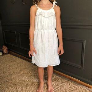 GAP Kids white sundress size M 8-9